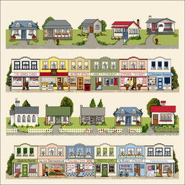 Craft Co - NZ Papers - Around NZ - 12x12 Paper Kiwi Town Borders