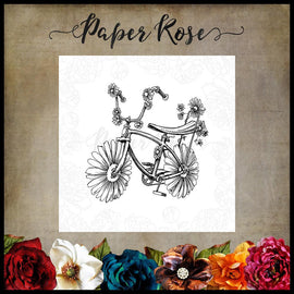 Paper Rose - Daisy Bike Stamp