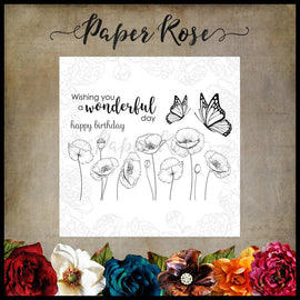 Paper Rose - Poppies Clear Stamp Set