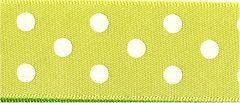 Berisfords Essentials Ribbon - Polka Dot Yellow