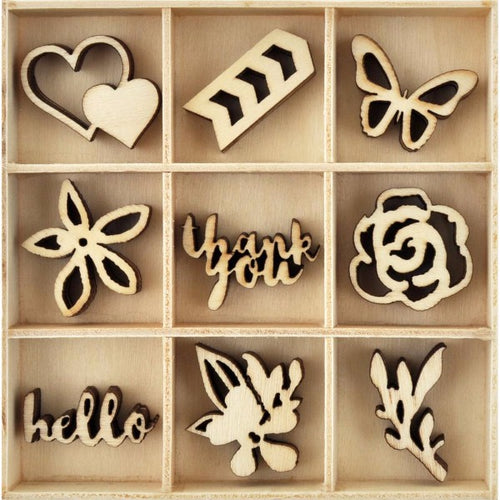 Kaisercraft Wooden Flourish Pack - Bloom
