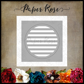 Paper Rose - Circle with Lines Die