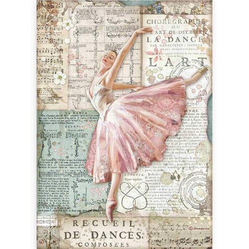 "**Pre-Order** Stamperia - A4 Rice Paper - Passion ""Dancer"""