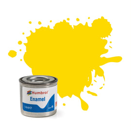 Humbrol - 14ml Enamel Paint - Gloss Yellow