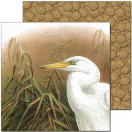 Craft Co - Pavlova NZ Birds - 12x12 Paper Kotuku Profile (PV12001)