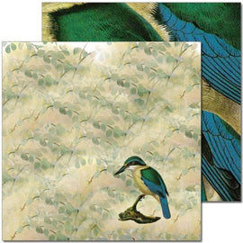 Craft Co - Pavlova NZ Birds - 12x12 Paper NZ Kingfisher 2 (PV14034)