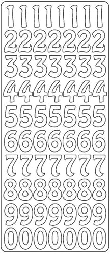 PeelCraft Stickers - Numbers Large - Gold (PC2628G)