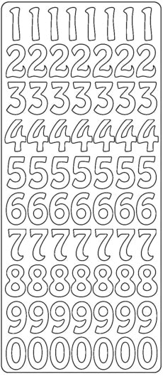 PeelCraft Stickers - Numbers Large - Black (PC2628BK)