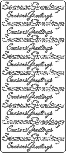 PeelCraft Stickers - Seasons Greetings - Gold (PC2630G)
