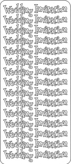 PeelCraft Stickers - Wedding Invitation - Silver (PC2738S)