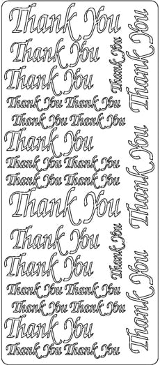 PeelCraft Stickers - Thank You Script - Gold (PC2823G)
