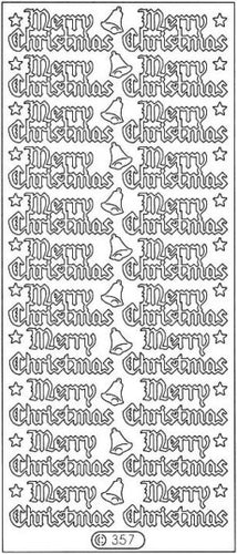PeelCraft Stickers - Merry Christmas - Gold (PC357G)