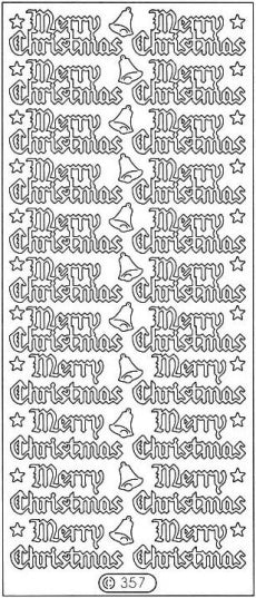 PeelCraft Stickers - Merry Christmas - Green Holo (PC357HGR)