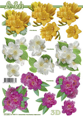 Le Suh 3D Decoupage - Mixed Flowers (777.331)