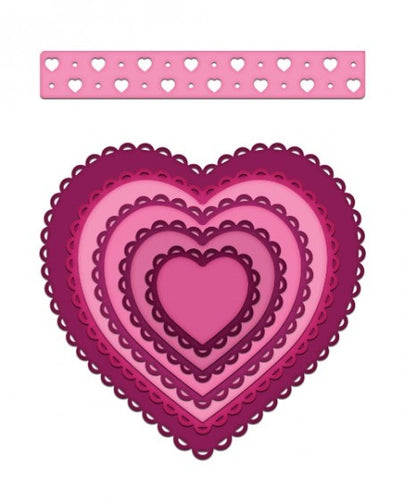 Heartfelt Creations - Eyelet Hearts Die Set
