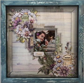 "Embellish It - 12x12"" Shadow Box Frame - Washed Denim"