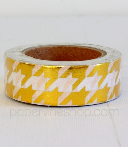 Artfull Embellies - Washi Tape - Gold Houndstooth (Metallic)
