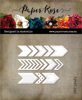 Paper Rose - Chevron Metal Die Set (Large)