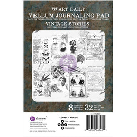 "Prima Marketing - Finnabair Art Daily - 4.5""x7"" Vellum Journaling Pad - Vintage Stories"