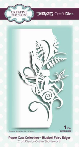 Creative Expressions Dies by Cathie Shuttleworth - Paper Cuts Collection - Bluebell Fairy Edger