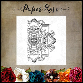 Paper Rose - Mandala Ornament Stamp