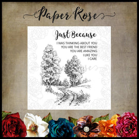 Paper Rose - Into the Woods Clear Stamp Set