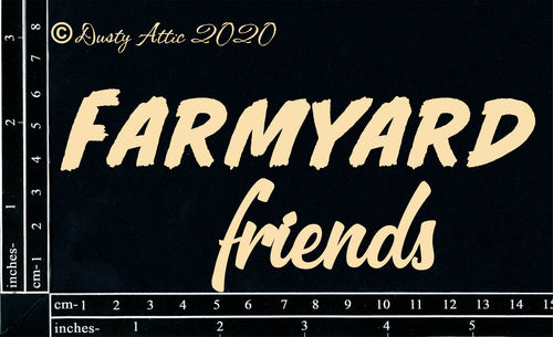 "Dusty Attic - Farmyard ""Words - Farmyard Friends"""