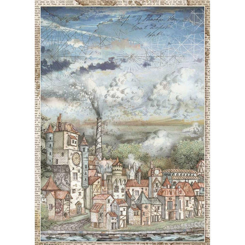 **Pre-Order** Stamperia - Sir Vagabond - A4 Rice Paper - Cityscape