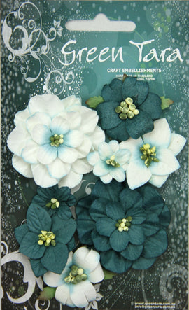 Green Tara Flowers - Fantasy Blooms - Teal