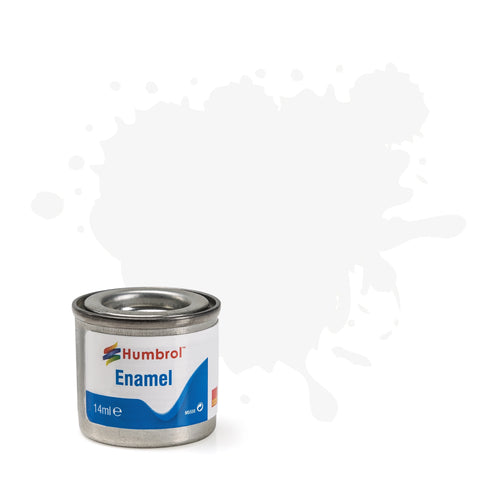 Humbrol - 14ml Enamel Paint - Matte White