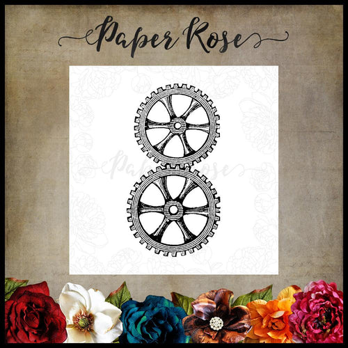 Paper Rose - Gears Stamp