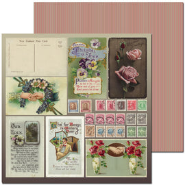 Craft Co - Pavlova Heritage - 12x12 Paper Vintage Postcards
