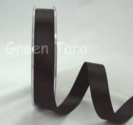 Green Tara Double-Sided Satin Ribbon - 6mm - Black