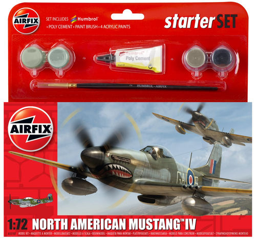 Airfix - Small Starter Set - North American Mustang IV 1:72 (Skill Level 1)