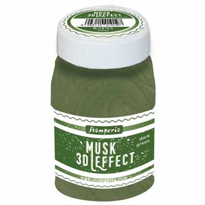 Stamperia - Mix Media Pastes - 3D Musk Effect 100ml - Dark Green