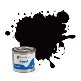 Humbrol - 14ml Enamel Paint - Satin Coal Black