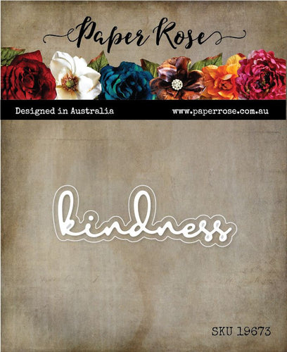 Paper Rose - Fine Script Layered Die - Kindness