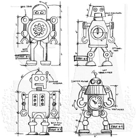 Tim Holtz - Stampers Anonymous - Robots Blueprints