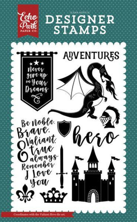 Echo Park - Once Upon a Time Prince - Stamp Set - Valiant Hero