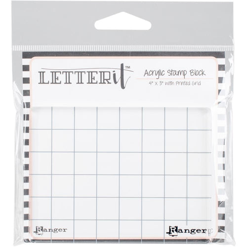 "Ranger - Letter It Acrylic Stamp Block - 4"" x 3"""