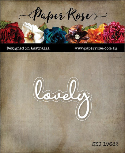 Paper Rose - Fine Script Layered Die - Lovely