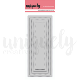 Uniquely Creative - Slim Line Dies - Slim Scalloped Nesting Rectangle Die
