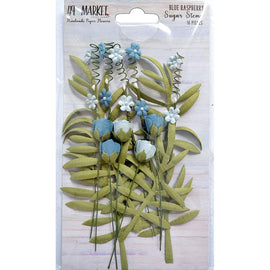 49 and Market - Flowers - Sugar Stems - Blue Raspberry