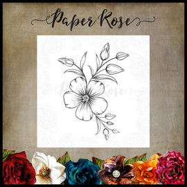 Paper Rose - Floral Spray Stamp