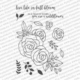 "Paper Rose - Ella's Garden Rosse Bouquet 4x6"" Stamp Set"