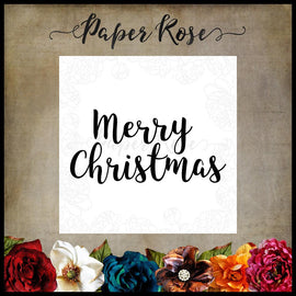 Paper Rose - Fancy Merry Christmas Stamp