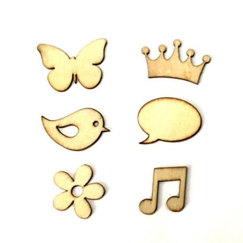 Artfull Embellies - Wooden Shapes - Princess and Wings