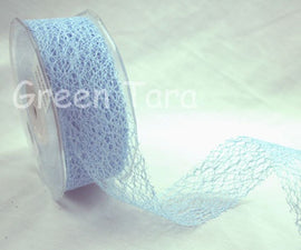 Green Tara 38mm Mesh Ribbon - Blue