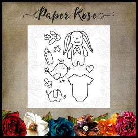 "Paper Rose - Baby Doodles 4x6"" Clear Stamp Set"