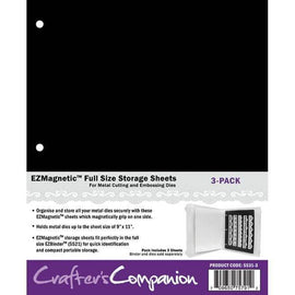 "Crafter's Companion - EZ Magnetic Sheets 9"" x 11"" (Fits Large Die & Stamp Storage Folder)"